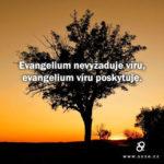 Evangelium víru nevyžaduje