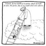 Věčné církevní téma, úprk do nebe